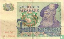 Schweden 5 Kronor 1981