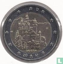 """Duitsland 2 euro 2012 (G) """"Neuschwanstein Castle - Bavaria"""""""