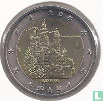 """Duitsland 2 euro 2012 (J) """"Neuschwanstein Castle - Bavaria"""""""