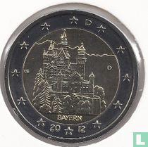 """Duitsland 2 euro 2012 (D) """"Neuschwanstein Castle - Bavaria"""""""