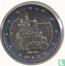 """Duitsland 2 euro 2012 (F) """"Neuschwanstein Castle - Bavaria"""""""