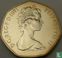 Verenigd Koninkrijk 50 new pence 1971 (PROOF)