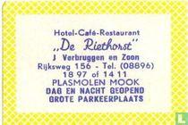 Hotel Café Restaurant De Riethorst - J.Verbruggen en Zoon