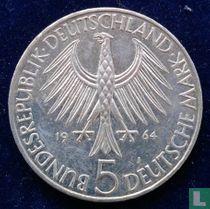"""Duitsland 5 mark 1964 """"150th anniversary Death of Johann Gottlieb Fichte"""""""
