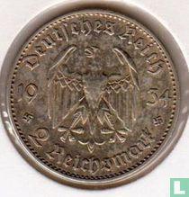 """Duitse Rijk 2 reichsmark 1934 (F) """"1ste verjaardag van de opening van de Reichstag"""""""