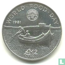 "Malta 2 pounds 1981 ""FAO - World Food Day"""