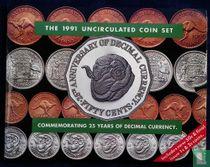 "Australië jaarset 1991 ""25th anniversary of decimal currency"""