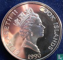 """Cook-Inseln 50 Dollar 1990 (PP) """"500 years of America - Abraham Lincoln"""""""
