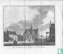 Het stadhuis en de markt te IJsselstein