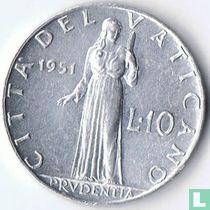 Vaticaan 10 lire 1951