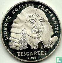 """Frankrijk 100 francs / 15 écus 1991 (PROOF) """"René Descartes"""""""