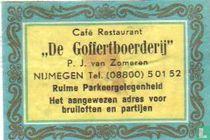 Café Restaurant De Goffertboerderij - P.J. van Zomeren