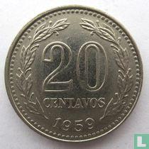 Argentinië 20 centavos 1959
