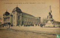 Barcelona Palacio de Bellas Artes Y  Monumento A Rius y Taulet