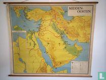 Vintage schoolkaart Midden Oosten