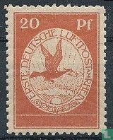 Luftpost an den Rhein und Mainz