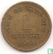 India 1 paisa 1964 (Hyderabad - nikkel-messing)