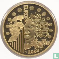 """France 50 euro 2003 (PROOF - gold) """"First anniversary of the euro"""""""