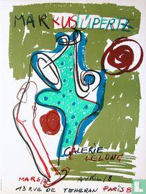 Lithografisch affiche Galerie Lelong, 1986