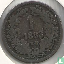 Hongarije 1 krajczar 1883