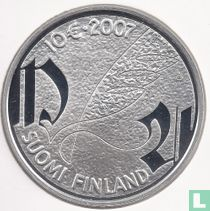 """Finland 10 euro 2007 (PROOF) """"Mikael Agricola and the Finnish language"""""""