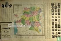 Belgisch Kongo . Congo Belge Map Administratief . Economisch .