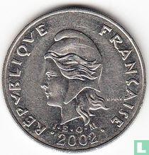 Frans-Polynesië 20 francs 2002