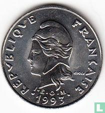 Frans-Polynesië 20 francs 1993