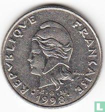 Frans-Polynesië 20 francs 1998