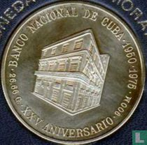 "Cuba 10 pesos 1975 (PROOF) ""25th Anniversary - National Bank of Cuba"""