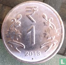 India 1 rupee 2013 (Hyderabad)