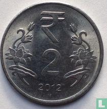 India 2 rupees 2012 (Hyderabad)
