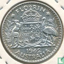 Australie 1 florin 1942 (S)