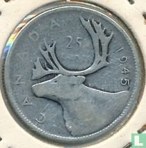 Canada 25 cents 1945