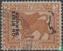 Babylonisch bas-reliëf, met opdruk