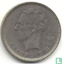 België 5 francs 1937 (positie B)