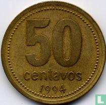 Argentina 50 centavos 1994 (type 1 - 96 beads)