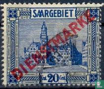 Hôtel de ville de Sarrebruck, avec une impression
