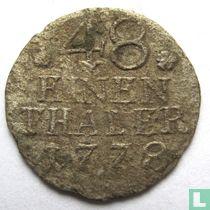 Pruisen 1/48 thaler 1778