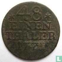 Pruisen 1/48 thaler 1771