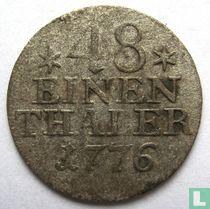 Pruisen 1/48 thaler 1776
