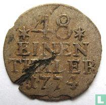 Pruisen 1/48 thaler 1774