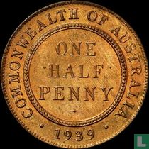 Australië ½ penny 1939 (Commonwealth reverse)