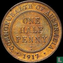 Australien ½ Penny 1917
