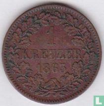 Baden 1 kreuzer 1863