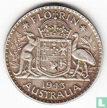 Australië 1 florin 1943 (geen muntteken)