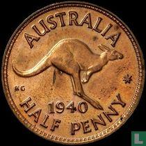 Australië ½ penny 1940