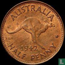 Australië ½ penny 1942 I (Lange tanden)