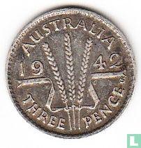 Australië 3 pence 1942 (S)
