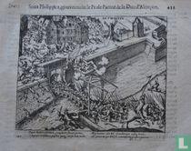 Fugit ALENCONIUS, complevit funere portas